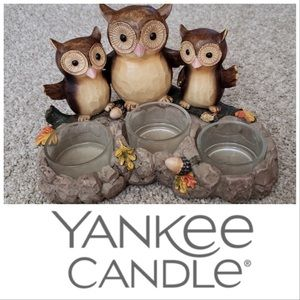 🆕Item🔥Yankee Candle 3 Owls Candle Holder
